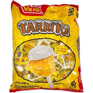 Vero Mexican Candy Tarrito Fruit Flavored Lollipops, 40 Count Bag with FREE Cachepigui Lollipop Candy (1BAG)