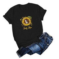 T Shirts for Women Graphic Funny,Valentines Gifts for Women Sunflower Shirts Cute Graphic Tee Shirts Letter Print Funny Tee Shirts Top