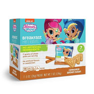 Shimmer N Shine Cinnamon Brown Sugar Breakfast Bites Snack Packs for Kids Birthday Party Supplies, Lunch snacks, and Vacations, 1 oz Bags, Box of 7