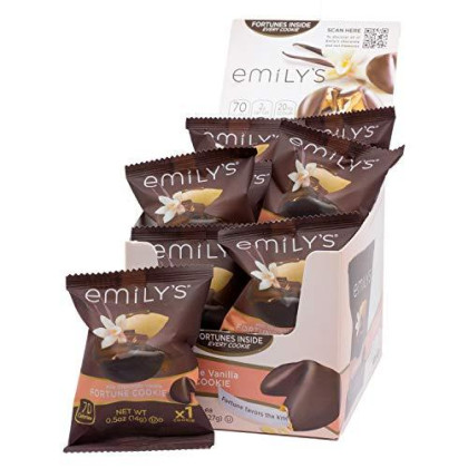 Emily'S Milk Chocolate Vanilla Fortune Cookies, .5 Ounce, 16 Count