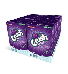 Crush, Grape - Powder Drink Mix - (12 Boxes, 72 Sticks) - Sugar Free & Delicious, Makes 72 Flavored Water Beverages