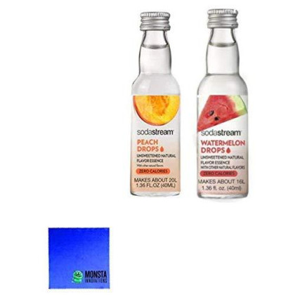 Soda Stream Fruit Drops 2 Pack - Watermelon And Peach