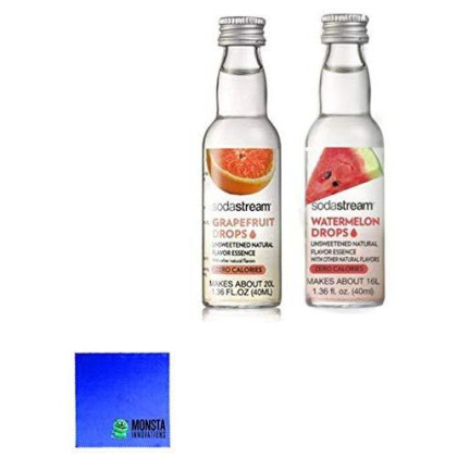 Soda Stream Fruit Drops 2 Pack - Watermelon And Grapefruit