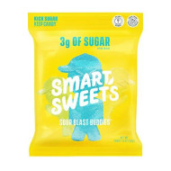 SmartSweets Sour Blast Buddies, Candy with Low Sugar (3g), Low Calorie, Plant-Based, Free From Sugar Alcohols, No Artificial Colors or Sweeteners, Pack of 6, New Juicy Recipe