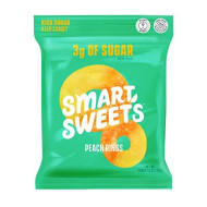 SmartSweets Peach Rings, Candy with Low Sugar (3g), Low Calorie, Plant-Based, Free From Sugar Alcohols, No Artificial Colors or Sweeteners, Pack of 6, New Juicy Recipe, 1.8 Ounce (Pack of 6)