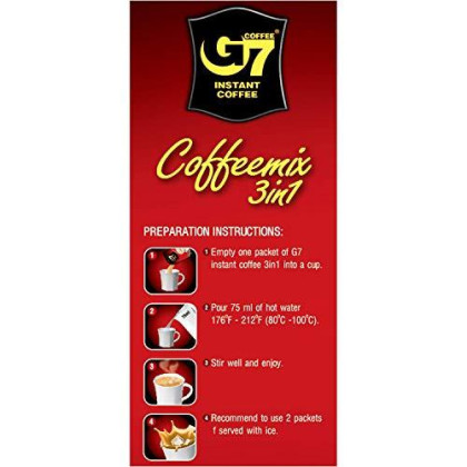 Trung Nguyen - G7 3 In 1 Instant Coffee - 100 Packets (2 Pack) | Roasted Ground Coffee Blend with Creamer and Sugar, Suitable for Most Coffee Brewing Methods, (16gr/stick)