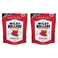 Wiley Wallaby Red Licorice Bundle Pack in Two Large 2 LB Bags (64 ounces total)