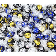 CrazyOutlet Lindt Lindor Chocolate Truffle Candy Assortment, 70% Extra Dark Chocolate Black Wrap, Dark Chocolate, 60% Extra Dark Chocolate Truffles, Bulk Pack, 2 Lbs