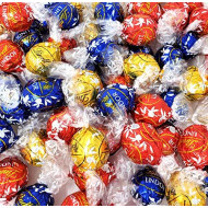CrazyOutlet Lindt Lindor Irresistibly Smooth Assorted Chocolate Truffles Candy, Milk White Dark Chocolate Bulk Pack, 2 Lbs