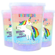 Unicorn Barf Cotton Candy - RAINBOW LAYERS- 3 Pack Unicorn Party Favors Supplies Birthday Treats for Kids & Adults
