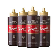 Torani Dark Chocolate Sauce, 16.5 Ounce (Pack Of 4)