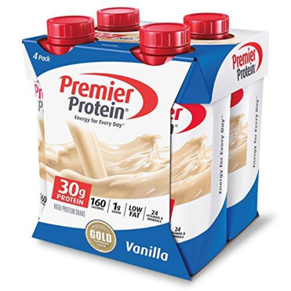 Premier Protein 30G Protein Shakes, Vanilla, 11 Fluid Ounces (Pack Of 4)