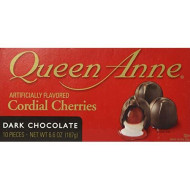 World'S Finest Chocolate, Inc. Queen Anne Cordial Cherries Dark Chocolate 6.6 Oz (Single Pack)