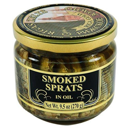 Riga Gold Smoked Sprats in Oil 270g (2-pack)