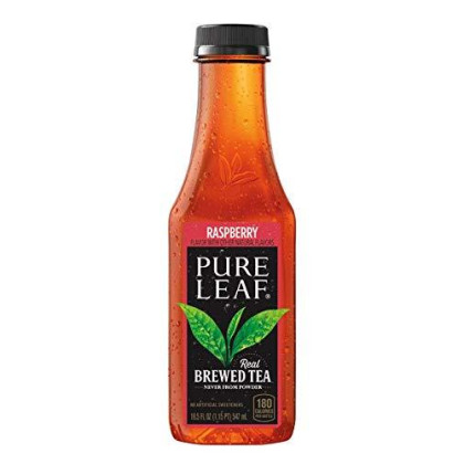 Pure Leaf Iced Tea, Raspberry, 18.5oz Bottles (12 Pack)