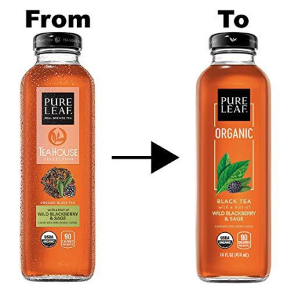 Pure Leaf, Organic Iced Tea Variety Pack, 14Oz Bottles (Pack Of 8) (Packaging May Vary)