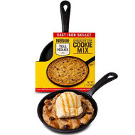 Thoughtfully Gifts, Nestle Toll House Individual-Size Chocolate Chip &Quot;Pizza Cookie&Quot; Kit, Includes Cookie Mix And Mini Cast Iron Skillet