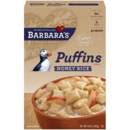 Barbaras, Cereal Puffins Hny Rice, 10 Oz, (Pack Of 12)