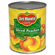 Del Monte Canned Sliced Peaches In Heavy Syrup, 29 Ounce