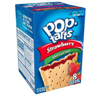 Pop-Tarts Breakfast Toaster Pastries, Unfrosted Strawberry Flavored, Bulk Size, 96 Count (Pack of 12, 14.7 oz Boxes)