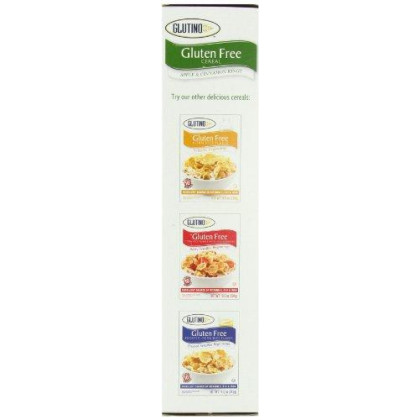 Glutino Gluten-Free Cereal, Apple & Cinnamon, 10.1-Ounce Boxes (Pack Of 6)