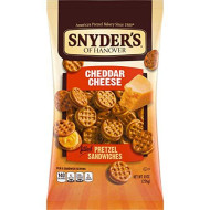 Snyder's of Hanover Pretzel Sandwiches, Cheddar Cheese, 8 Ounce (Pack of 12)