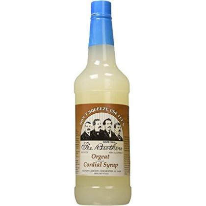 Fee Brothers Orgeat Almond Cordial Cocktail Syrup: 32 Ounces
