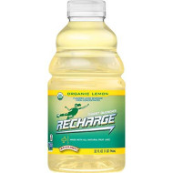 R.W. Knudsen Recharge Organic Lemon Flavored Juice Sports Beverage With Electrolytes, 32 Ounces