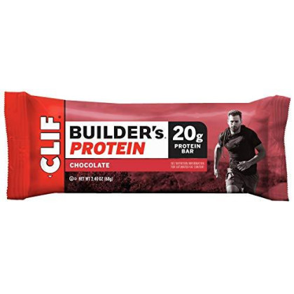 Cliff Bar Builder Bar, Chocolate, 2.40-Ounce (Pack Of 12)