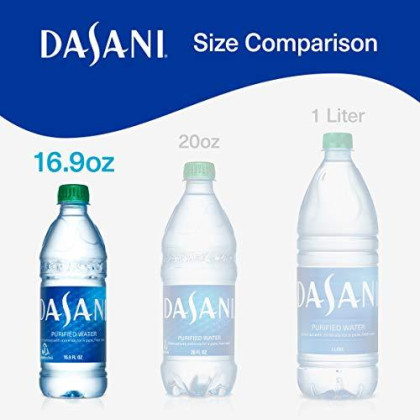 Dasani Purified Water Enhanced With Minerals, 16.9 Fl Oz (Pack Of 24)