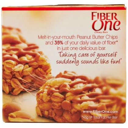 Fiber One Bar Oats And Peanut Butter 5 - 1.4 Oz Bars