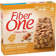 Fiber One Chewy Bars, Oats And Caramel, 5 - 1.4 Ounce Bars (Pack Of 12)