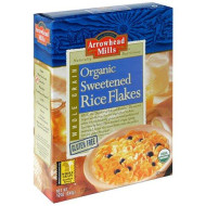 Arrowhead Mills Organic Sweetened Rice Flakes, Gluten Free, 12-Ounce Boxes (Pack Of 6)