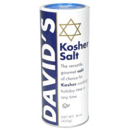 David's Kosher Salt, 16-Ounce Canisters (Pack of 6)