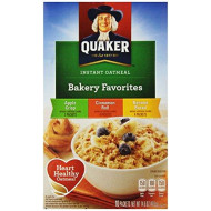 Quaker Instant Oatmeal Bakery Favorites 14.6 Oz Boxes (Pack Of 4)