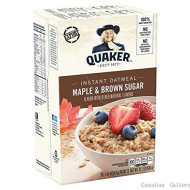Quaker Instant Oatmeal Maple & Brown Sugar- Pack Of 6