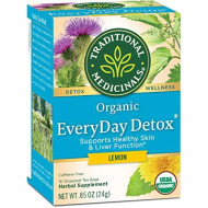 Traditional Medicinals Organic Lemon Everyday Detoxtea, 16 Bags (Pack Of 6)