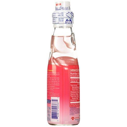 Sangaria Ramune Marble Soft Drink Strawberry Flavor 6 Pack