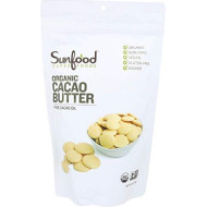 Sunfood Superfoods Organic Cacao Butter. 100% Pure Cacao Bean Oil, Chocolate Taste. Keto Coffee, Smoothies, Dessert, Ice Cream. Ideal For Cooking & Baking. Use As Skin-Care For Healthy Glow . 1 Lb Bag