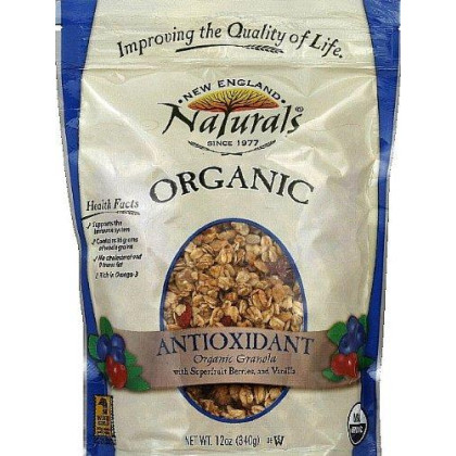 New England Naturals Organic Antioxidant Granola, 12-Ounce Pouches (Pack Of 6)