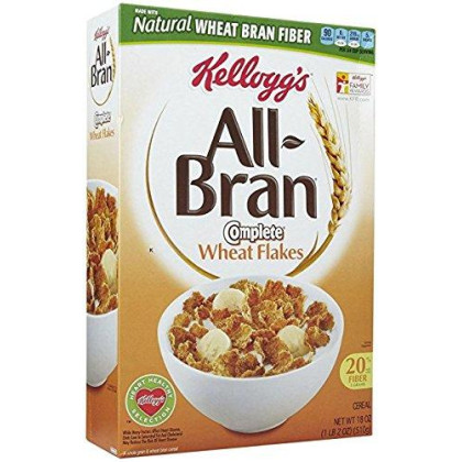 Kellogg'S All Bran Complete Wheat Flakes Cereal, 17.3 Oz