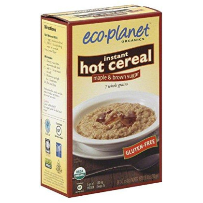 Eco-Planet Instant Hot Cereal/Oatmeal, Maple And Brown Sugar, 8.46-Ounce Boxes (Pack Of 3)