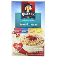 Quaker Instant Oatmeal Fruit & Cream, Variety Pack, 10-Count Boxes (Pack Of 4)