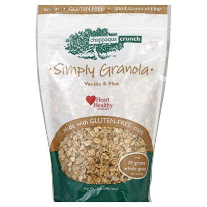 Chappaqua Crunch Simply Granola With Vanilla And Flax, 12-Ounce Bags (Pack Of 6)