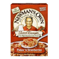 Newman'S Own Flakes'N Strawberries Rice And Wheat Cereal, 12-Ounce (Pack Of 5)