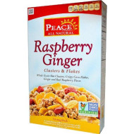 Peace Cereal Clusters & Flakes Cereal - Raspberry Ginger - 11 Oz