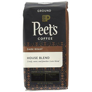 Peet'S Coffee House Blend, Dark Roast Ground Coffee, 12 Ounce Bag (Pack Of 2) Packaging May Vary Bright, Lively, And Balanced Dark Roast Blend Of Latin American Coffees, Deep Roasted, Hint Of Spice
