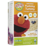Earth'S Best Sesame Street Yummy Tummy Instant Oatmeal - Maple And Brown Sugar - 15.1 Oz
