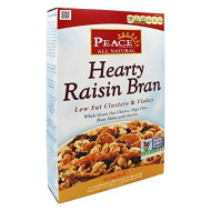 Peace Cereal Hearty Low Fat Clusters And Flakes Cereal Raisin Bran -- 10.5 Oz