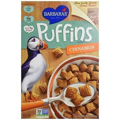 Barbara'S Bakery Puffins Cereal, Cinnamon, 10-Ounce ( Pack Of 48)